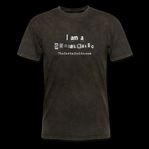White Serialholic Logo - Men's T-Shirt