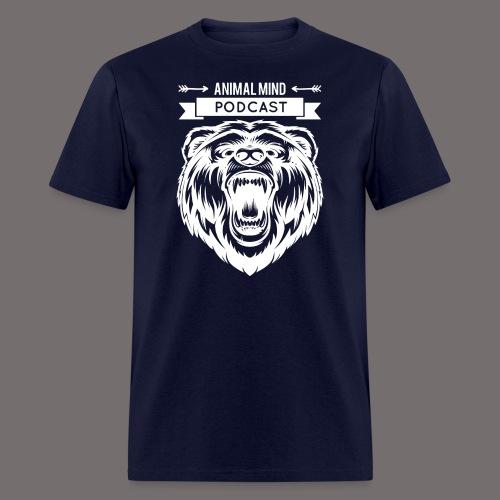 Animal Mind Podcast - Growling Bear Logo - Men's T-Shirt