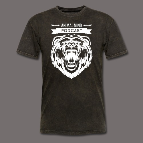Animal Mind Podcast - Growling Bear Logo - Men's T-Shirt
