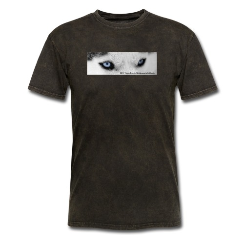 husky eyes for shirts 2011 text - Men's T-Shirt