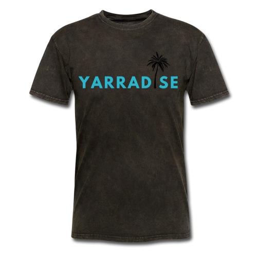 Yarradise Palm: Blue text - Men's T-Shirt