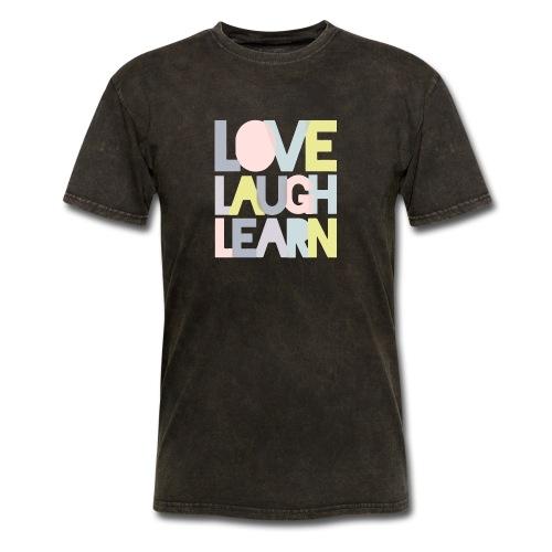 Love laugh learn - Men's T-Shirt