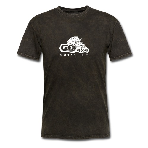 go bw white text - Men's T-Shirt