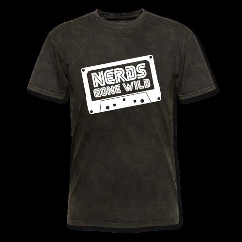 Nerds Logo Cassette White - Men's T-Shirt