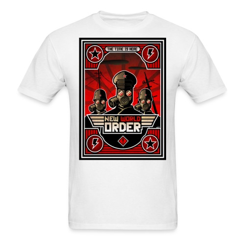 new world order the time is here - Men's T-Shirt
