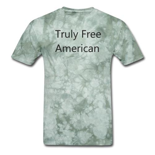 Truly Free American design1 - Men's T-Shirt
