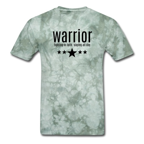 warrior fighting in faith slaying all day - Men's T-Shirt