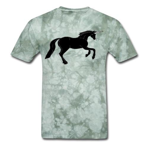 unicorn black - Men's T-Shirt