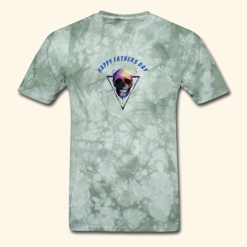 Happy fathers day skull Tee T shirt - Men's T-Shirt