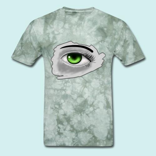 Realist Anime green eye - Men's T-Shirt