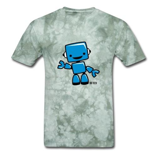 DB Tech Robot With Text - Men's T-Shirt