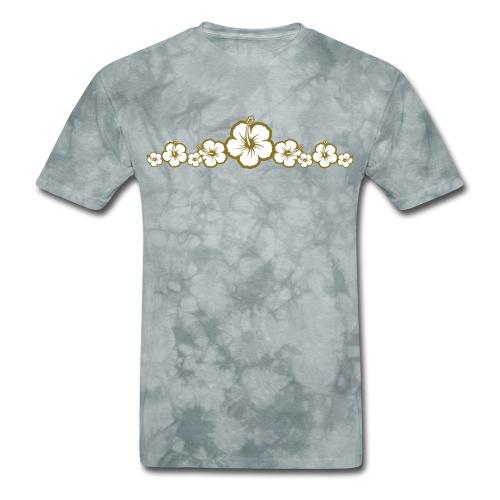 Hawaiian Hibiscus Flowers - Surfing Style - Men's T-Shirt