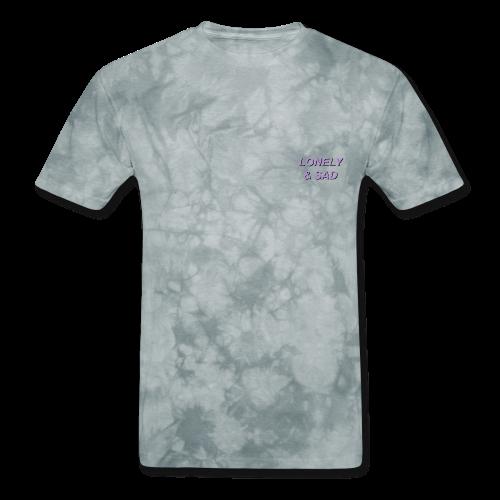 Purple/Black Italic - Men's T-Shirt
