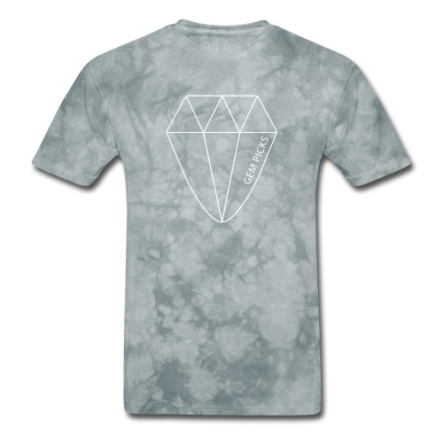 Gem Picks - Bold - White Ink - Men's T-Shirt