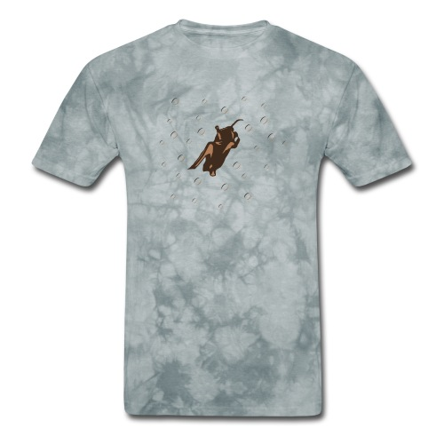 Orange Space Bat Hangs On Women's T-shirts - Men's T-Shirt