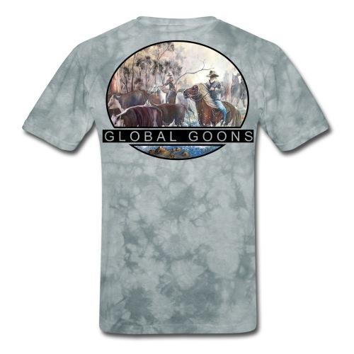 G L O B A L horses in the back - Men's T-Shirt