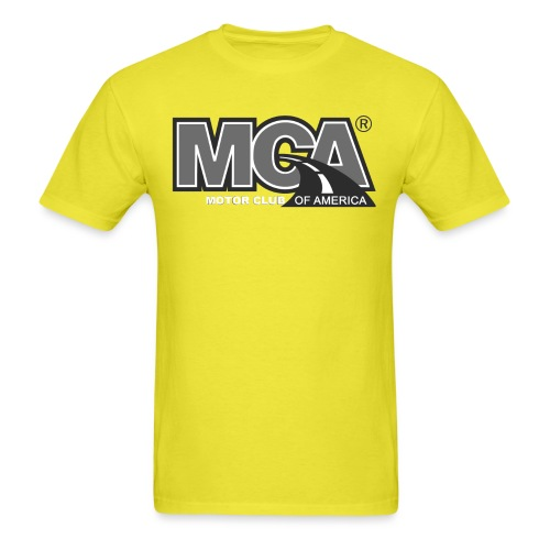 MCA Logo WBG Transparent BLACK WHITE TITLEfw fw pn - Men's T-Shirt