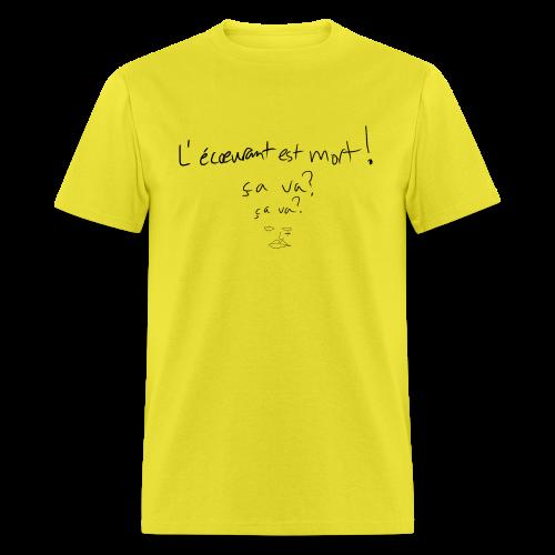 bonsoir, fucker (l'écœurant / black) - Men's T-Shirt