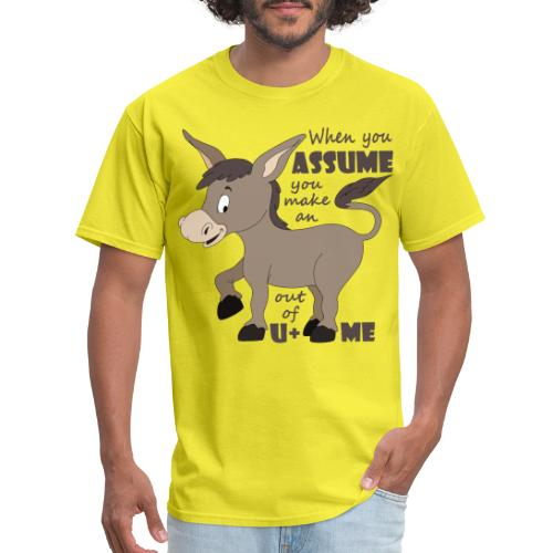 Assume Jackass - Men's T-Shirt