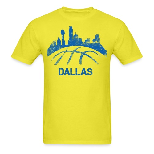 Dallas Basketball Skyline - Men's T-Shirt