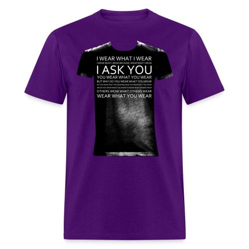 I ask You black - Men's T-Shirt