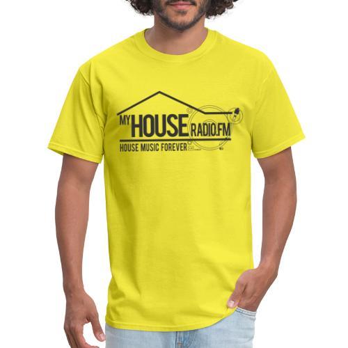 My House Radio Black Logo - Men's T-Shirt