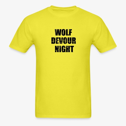 Wolf Devour Night - Men's T-Shirt