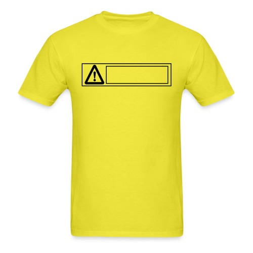 warning sign - Men's T-Shirt