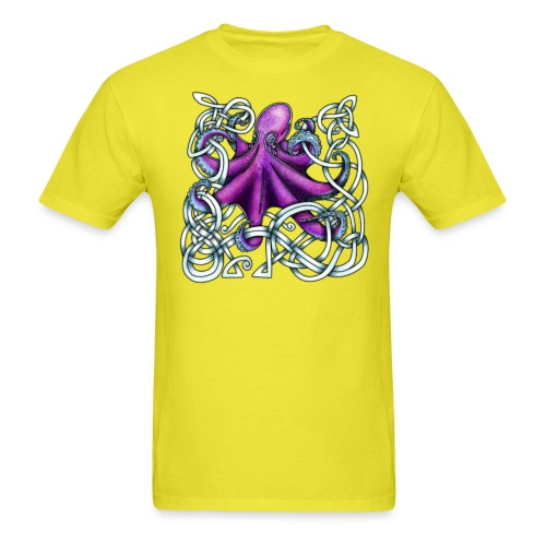 Celtic Octopus - Purple - Men's T-Shirt