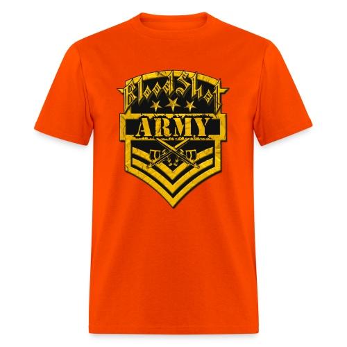 BloodShot ARMYLogo Gold /Black - Men's T-Shirt