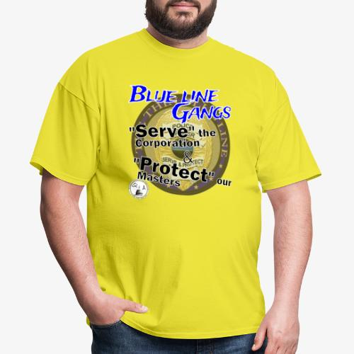 Thin Blue Line - To Serve and Protect - Men's T-Shirt