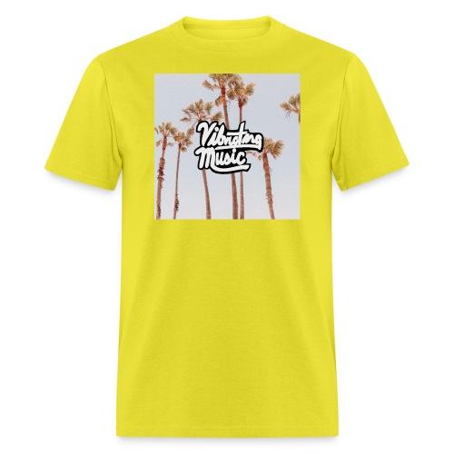 Palm Trees Vibrating Logo - Men's T-Shirt