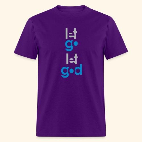 LET GO LET GOD GREY/BLUE #7 - Men's T-Shirt