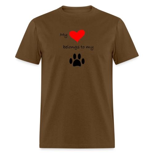 Dog Lovers shirt - My Heart Belongs to my Dog - Men's T-Shirt