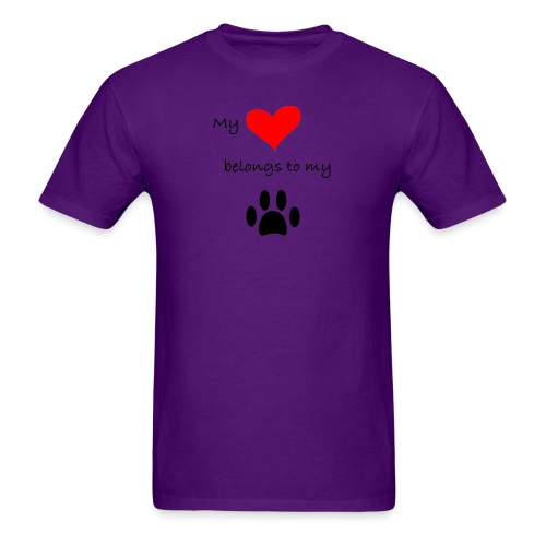 Dog Lovers shirt - My Heart Belongs to my Dog - Men's T-Shirt