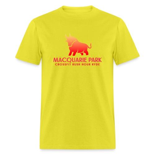 Orange Bull Red Text - Men's T-Shirt