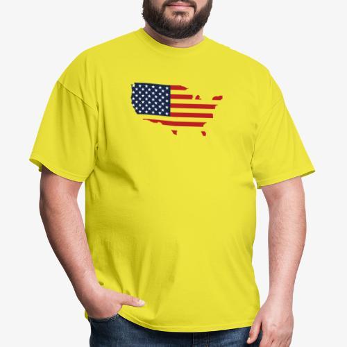 USA flag map red, white & blue - Men's T-Shirt