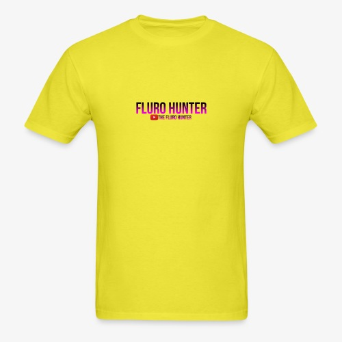 The Fluro Hunter Black And Purple Gradient - Men's T-Shirt