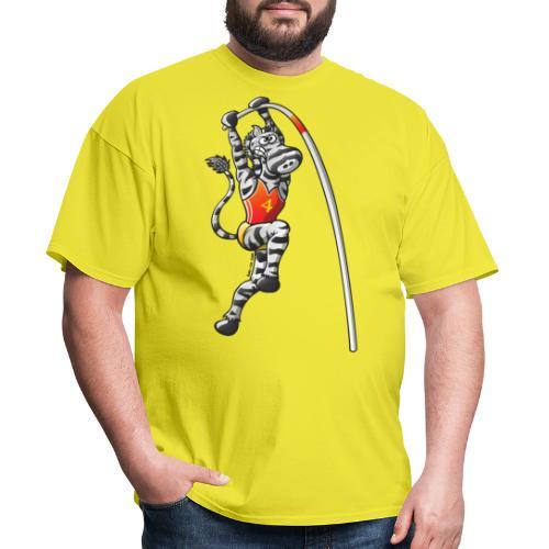Olympic Pole Vault Zebra - Men's T-Shirt