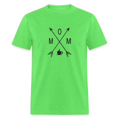 Mom Loves Coffee (black ink) - Men's T-Shirt