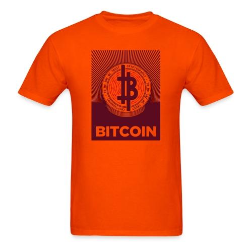 bitcoin_lightbg - Men's T-Shirt