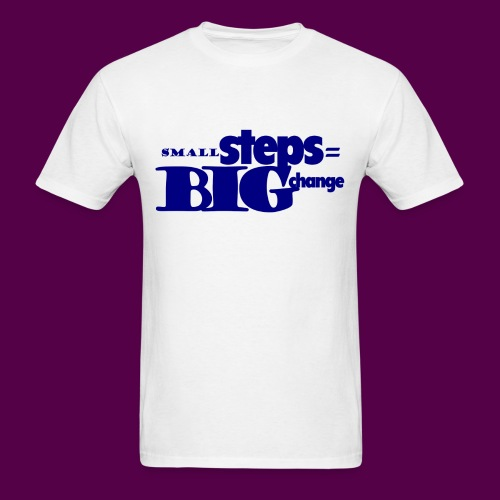 small steps blue - Men's T-Shirt