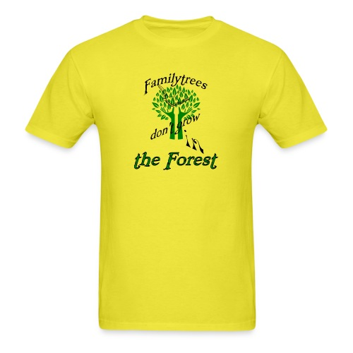 genealogy family tree forest funny birthday gift - Men's T-Shirt