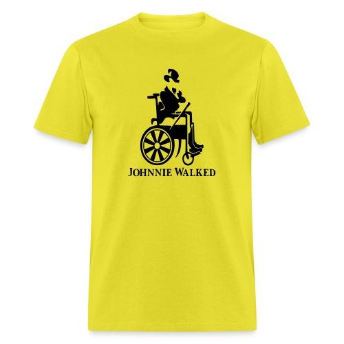 Johnnie Walked, Wheelchair fun, whiskey and roller - Men's T-Shirt