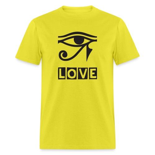 EYE LOVE DSGN TRNSP - Men's T-Shirt