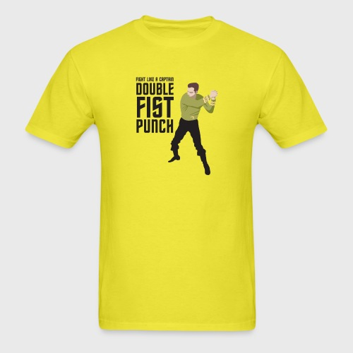 Captain Kirk Double Fist Punch - Men's T-Shirt