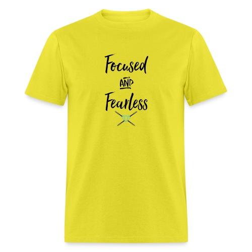 focused fearless (black) - Men's T-Shirt