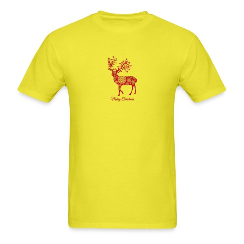 Christmas deer with snowflakes pattern New - Men's T-Shirt
