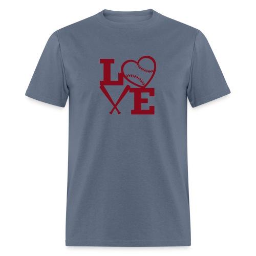 Love baseball - Men's T-Shirt