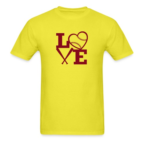 Love baseball - Men's T-Shirt